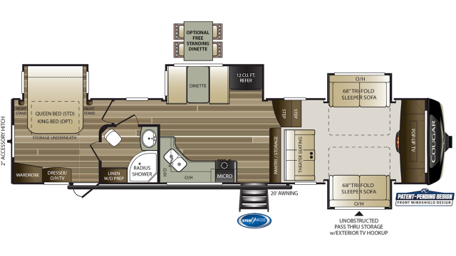 2020 Cougar 367FLS Floor Plan