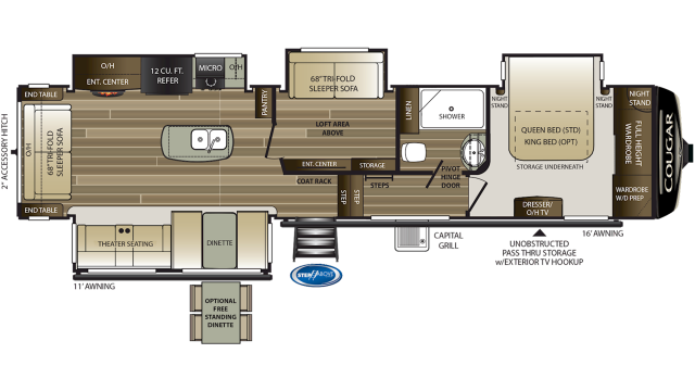 2020 Cougar 368MBI Floor Plan
