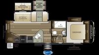 2020 Cougar Half Ton 25RES Floor Plan