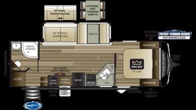 2020 Cougar Half Ton 26RBS Floor Plan Img