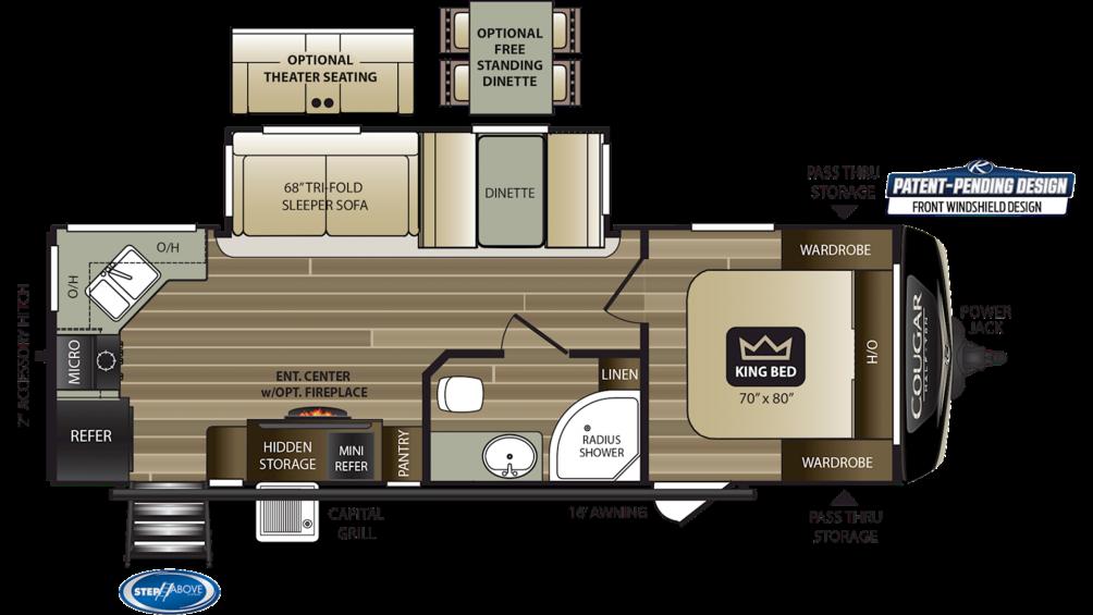2020 Cougar Half Ton 26RKS Floor Plan Img