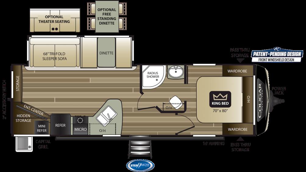 2020 Cougar Half Ton 27RES Floor Plan Img