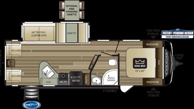 2020 Cougar Half Ton 27SAB Floor Plan