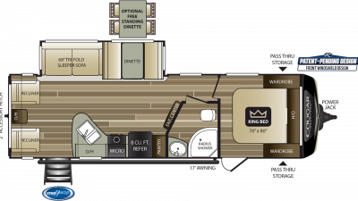 2020 Cougar Half Ton 27SAB Floor Plan Img