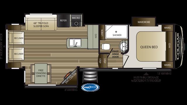 2020 Cougar Half Ton 27SGS Floor Plan