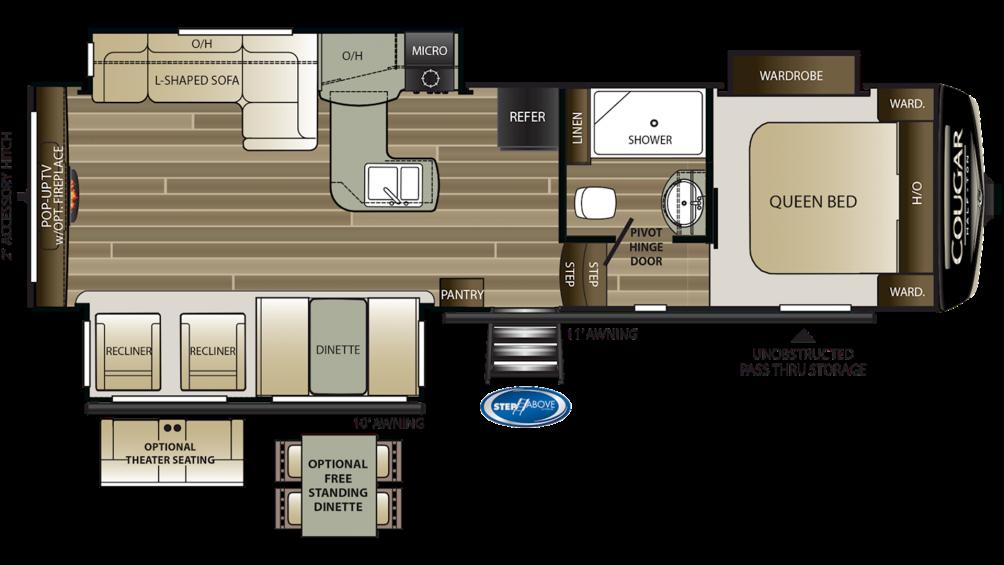2020 Cougar Half Ton 29RES Floor Plan Img