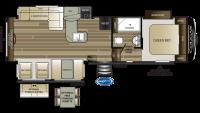 2020 Cougar Half Ton 29RES Floor Plan