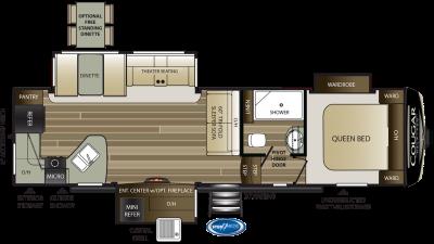 2020 Cougar Half Ton 29RKS Floor Plan Img