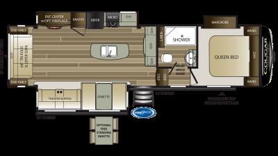2020 Cougar Half Ton 30RLS Floor Plan Img