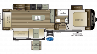 2020 Cougar Half Ton 30RLS Floor Plan