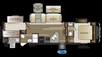 2020 Cougar Half Ton 32BHS Floor Plan
