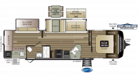 2020 Cougar Half Ton 32RDB Floor Plan