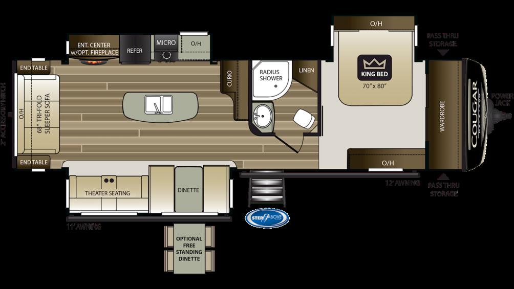 2020 Cougar Half Ton 32RLI Floor Plan Img
