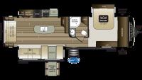 2020 Cougar Half Ton 32RLI Floor Plan
