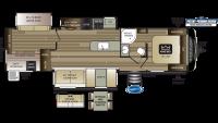 2020 Cougar Half Ton 34TSB Floor Plan
