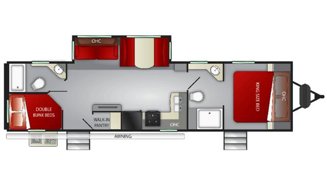 2020 Cruiser MPG 3200DB Floor Plan