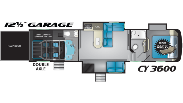 2020 Cyclone 3600 Floor Plan