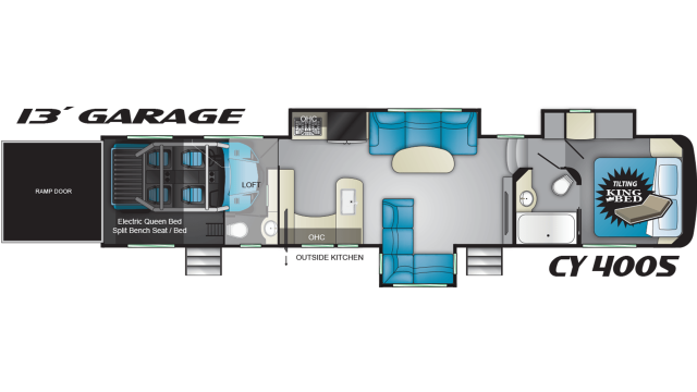 2020 Cyclone 4005 Floor Plan