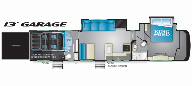 2020 Cyclone 4007 Floor Plan