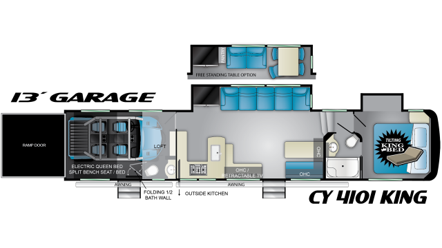 2020 Cyclone 4101 Floor Plan