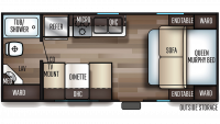 2020 Grey Wolf 18MT Floor Plan