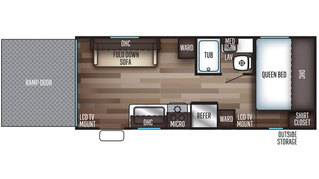 2020 Grey Wolf 19RR Floor Plan