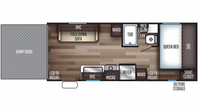 2020 Grey Wolf 19RR Floor Plan Img