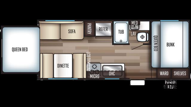 2020 Grey Wolf 19SM Floor Plan