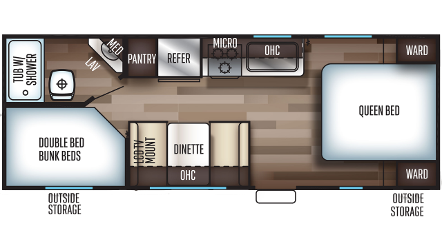 2020 Grey Wolf 22MKSE SPECIAL EDITION Floor Plan