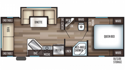 2020 Grey Wolf 23MK Floor Plan Img