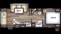 2020 Grey Wolf 23MK Floor Plan