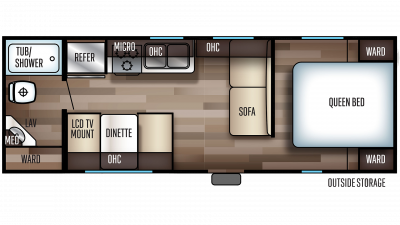 2020 Grey Wolf 24JS Floor Plan Img