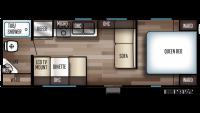 2020 Grey Wolf 24JS Floor Plan