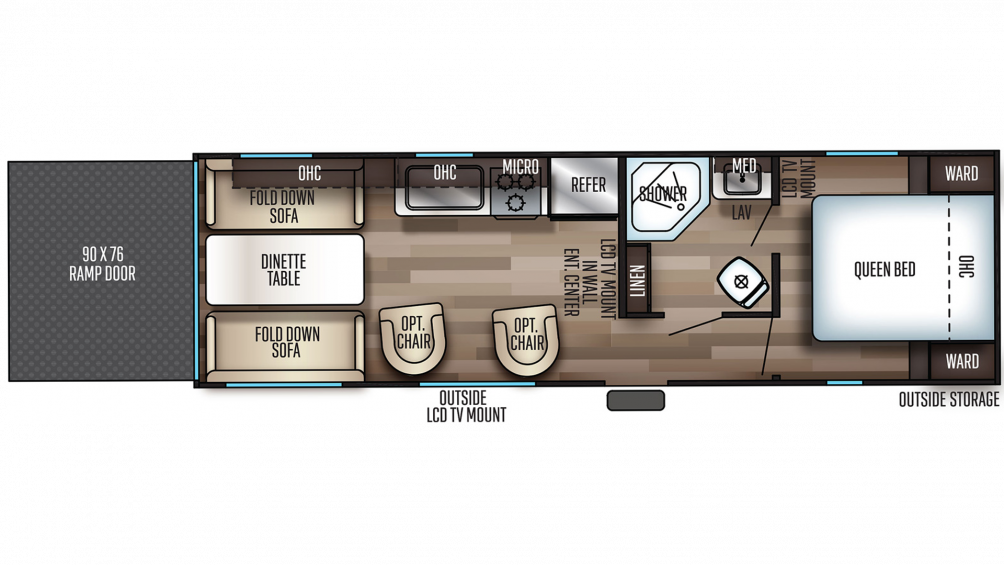 2020 Grey Wolf 25RRT Floor Plan Img