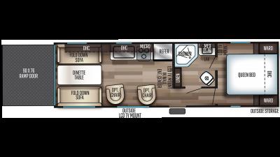 2020 Grey Wolf 25RRT Floor Plan Img
