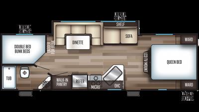 2020 Grey Wolf 26DBH Floor Plan Img