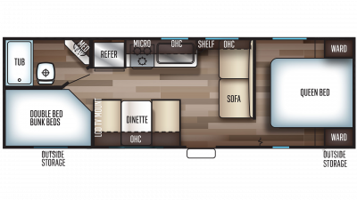 2020 Grey Wolf 26DJSE SPECIAL EDITION Floor Plan Img