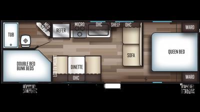 2020 Grey Wolf 26DJSE SPECIAL EDITION Floor Plan Img