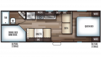 2020 Grey Wolf 26DJSE SPECIAL EDITION Floor Plan