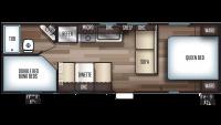 2020 Grey Wolf 26DJSE SPECIAL EDITION Floor Plan