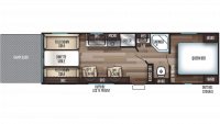 2020 Grey Wolf 26RR Floor Plan