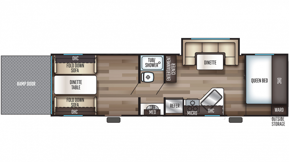 2020 Grey Wolf 27RR Floor Plan Img