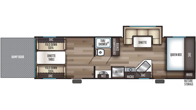 2020 Grey Wolf 27RR Floor Plan