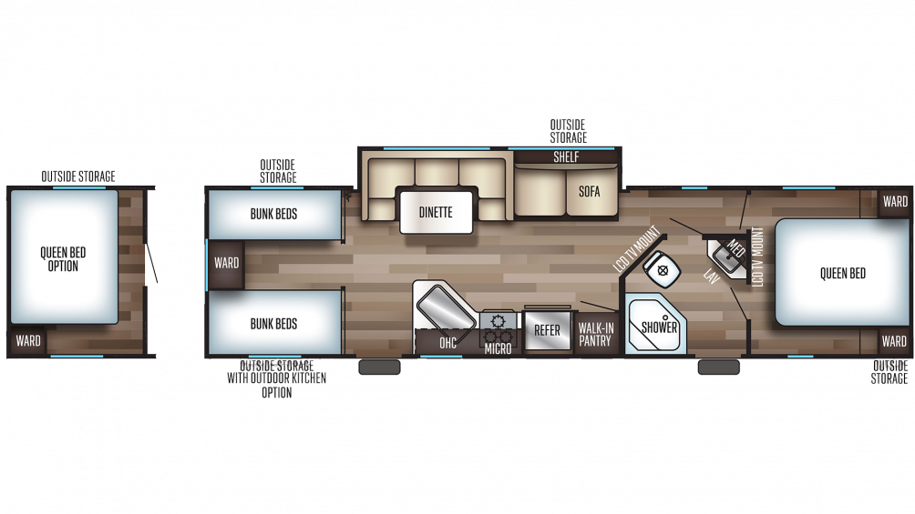 2020 Grey Wolf 29TE Floor Plan Img