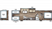 2020 Grey Wolf 29TE Floor Plan