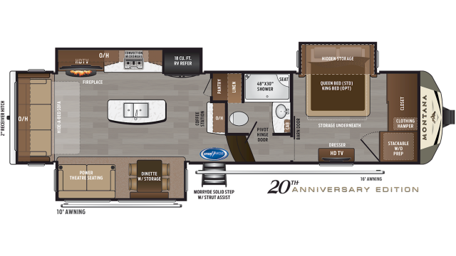 2020 Montana 3120RL Floor Plan