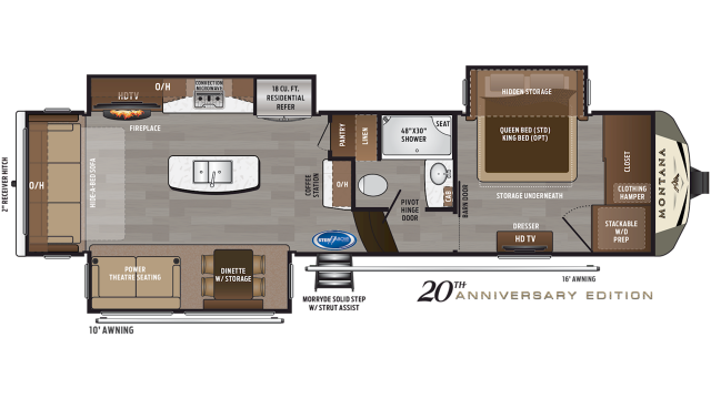 2020 Montana 3121RL Floor Plan
