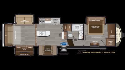 2020 Montana 3561RL Floor Plan Img