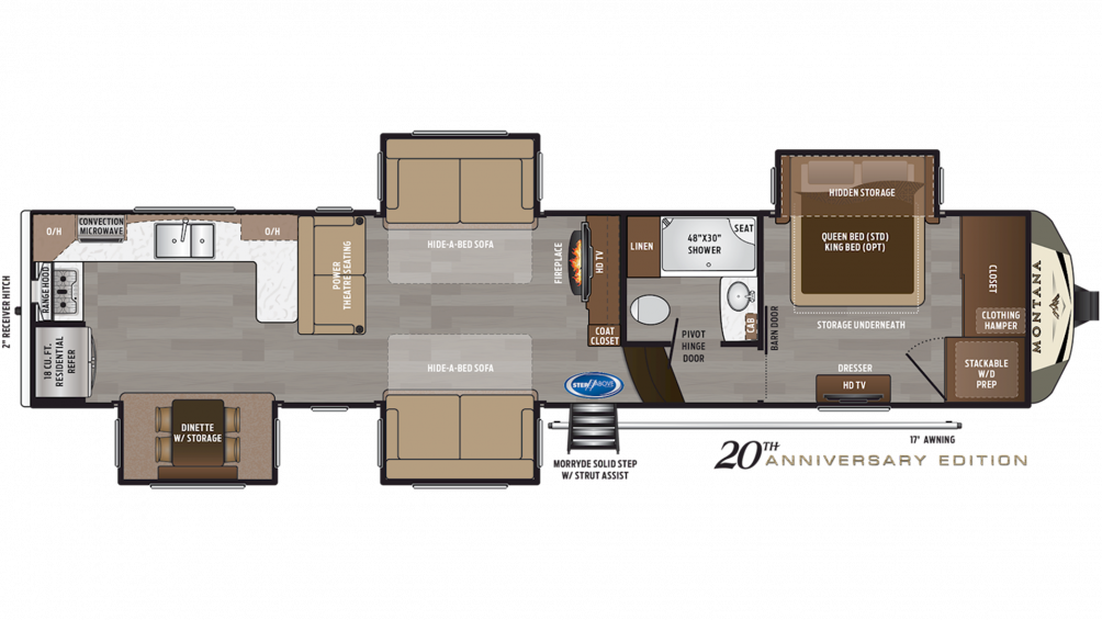 2020 Montana 3701LK Floor Plan Img