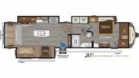 2020 Montana 3721RL Floor Plan